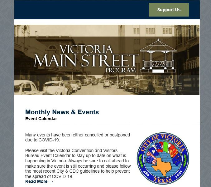 Victoria Main Street Program newsletter