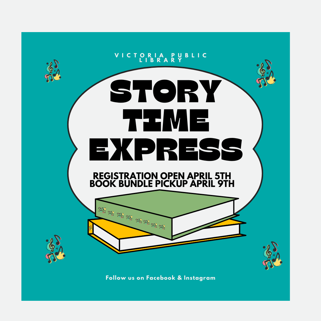Story Time Express Registration open April 5th, Book Bundle Pickup April 9th