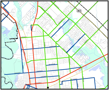 Thoroughfare Master Plan map