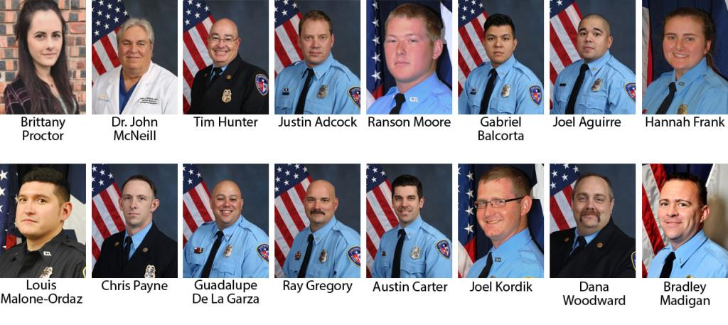 Victoria Fire Department 2019 honorees